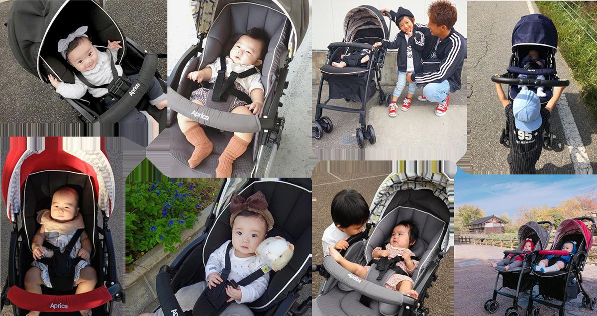 Xe đẩy trẻ em Aprica Luxuna Cushion (AB Gray)