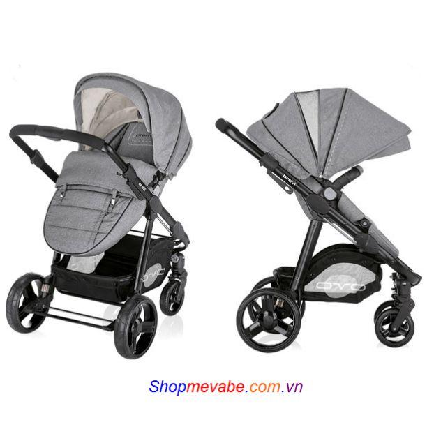 Bộ xe đẩy em bé Brevi Ovo 3 trong 1 Grey BRE729 - 277