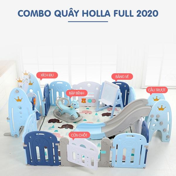 Combo quây cũi nhựa vương miện 2020 cho bé