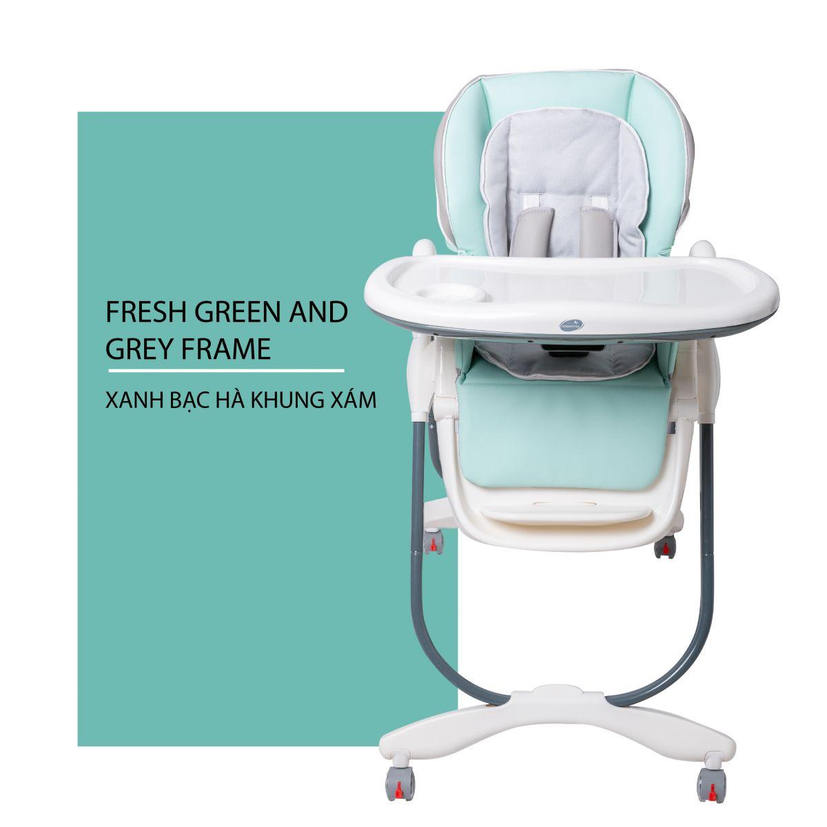 Ghế ngồi ăn cho bé Mastela MS 0619 xanh bạc hà