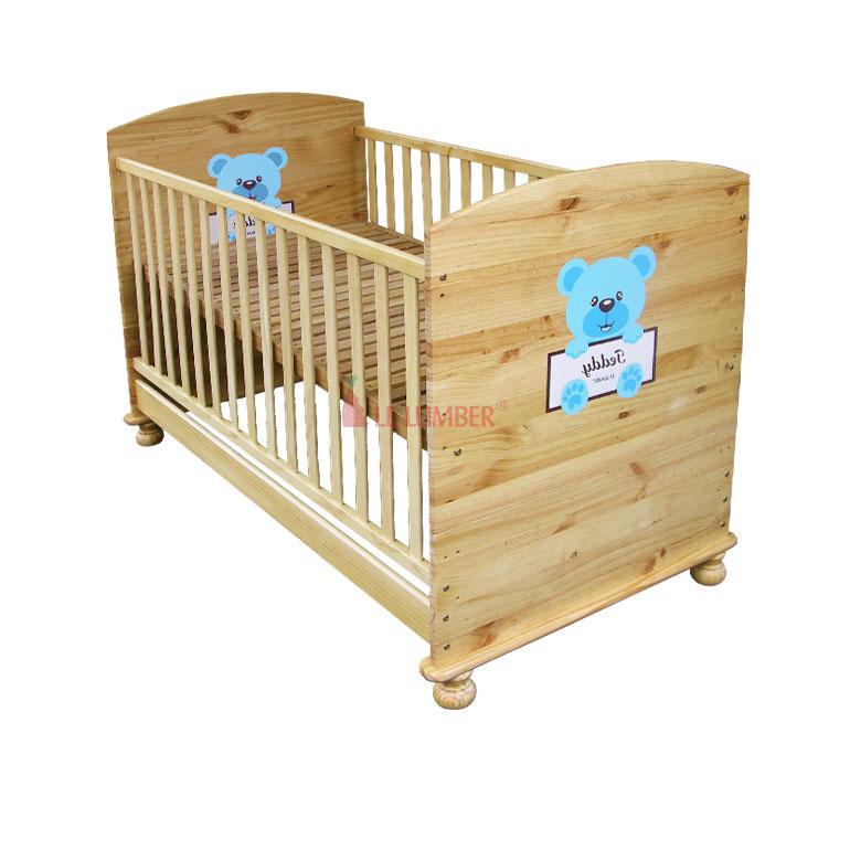 Giường cũi Teddy đa năng màu xanh