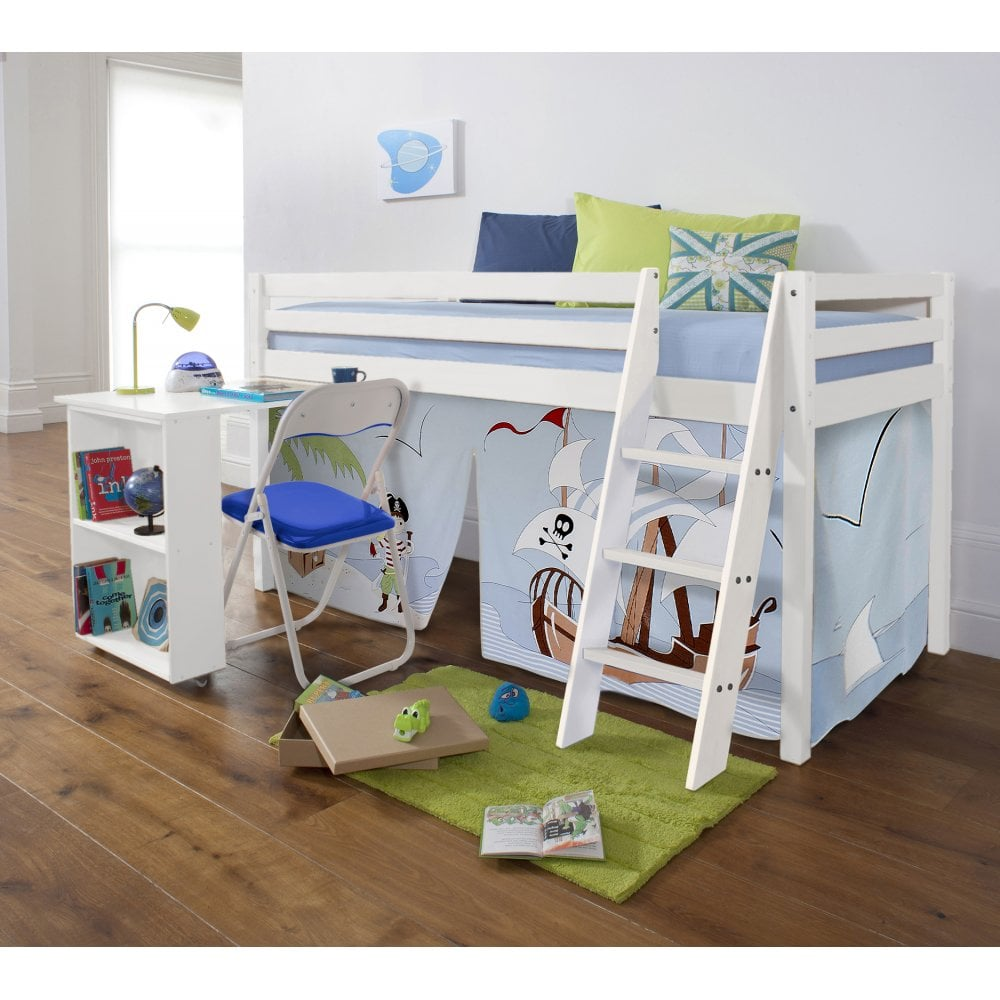 Giường tầng + Bàn màu trắng 51WG