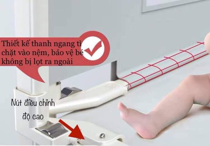 Sự khác biệt giữa thanh chặn giường UMOO bản nâng cấp và thanh chặn giường thường