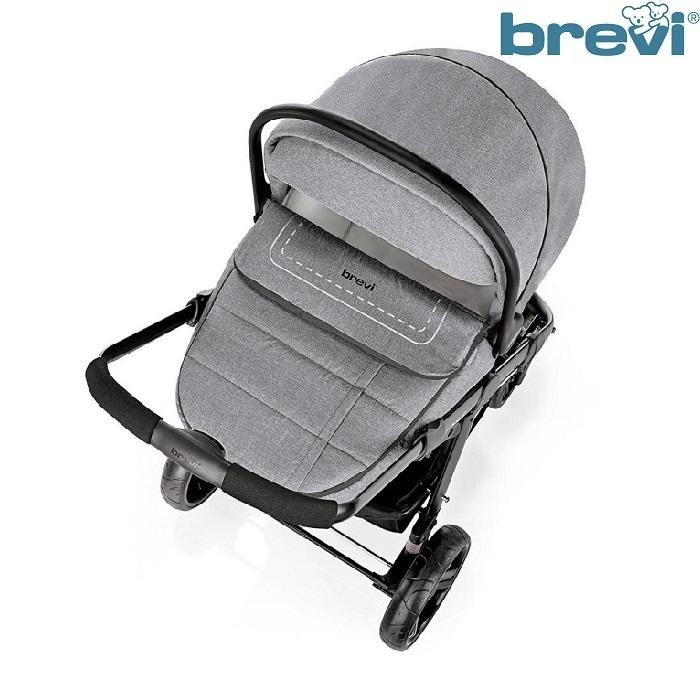 Bộ xe đẩy em bé Brevi Ovo 3 trong 1 Grey BRE729-277