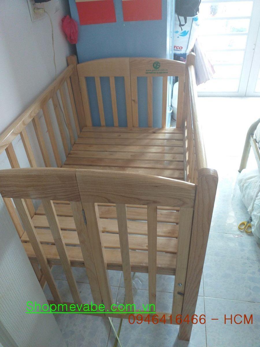 Cũi giường gỗ Sồi