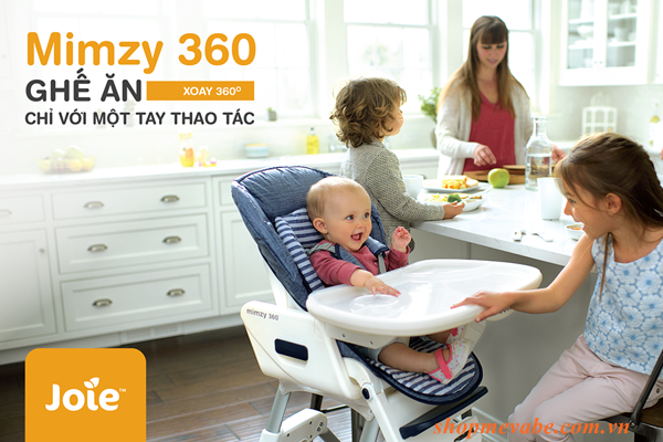 Ghế ăn trẻ em Joie Mimzy 360 Denim