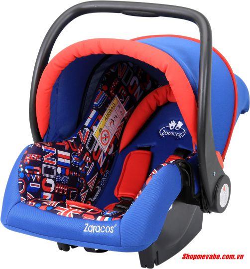 Ghế ngồi ô tô, nôi xách tay cho bé Zaracos 2646 Màu xanh đỏ