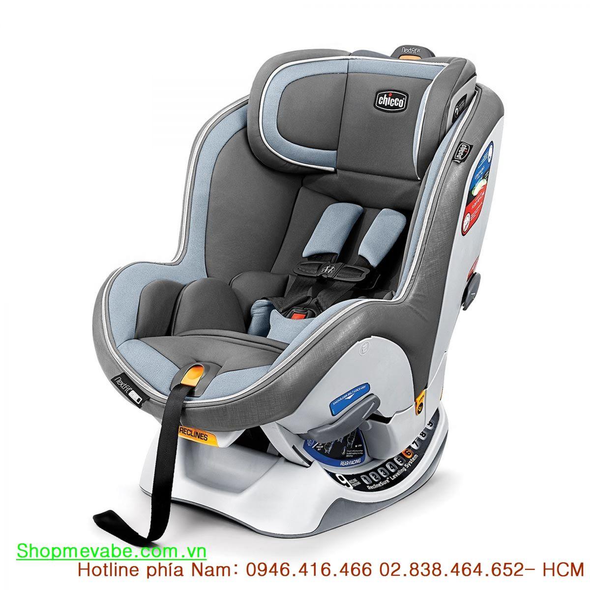Ghế ngồi ô tô từ sơ sinh Chicco NextFit iX Zip xanh ghi