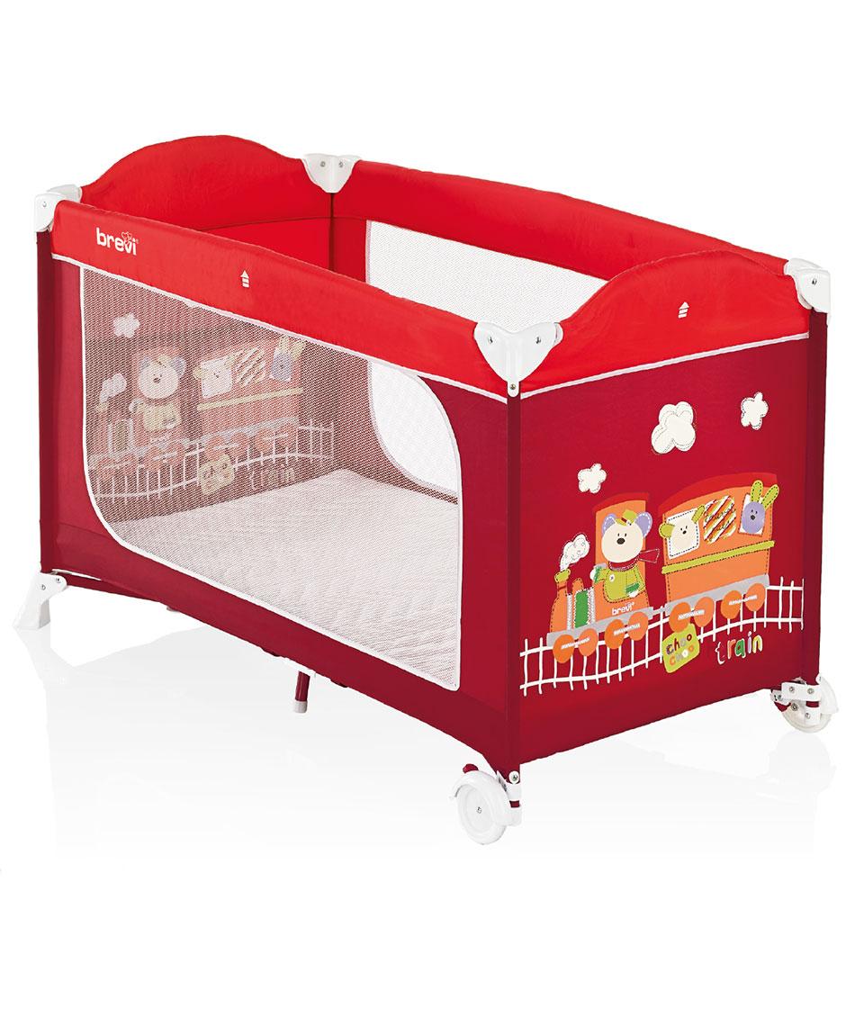 Nôi ngủ du lịch Brevi Dolce Nanna Plus cho bé màu đỏ