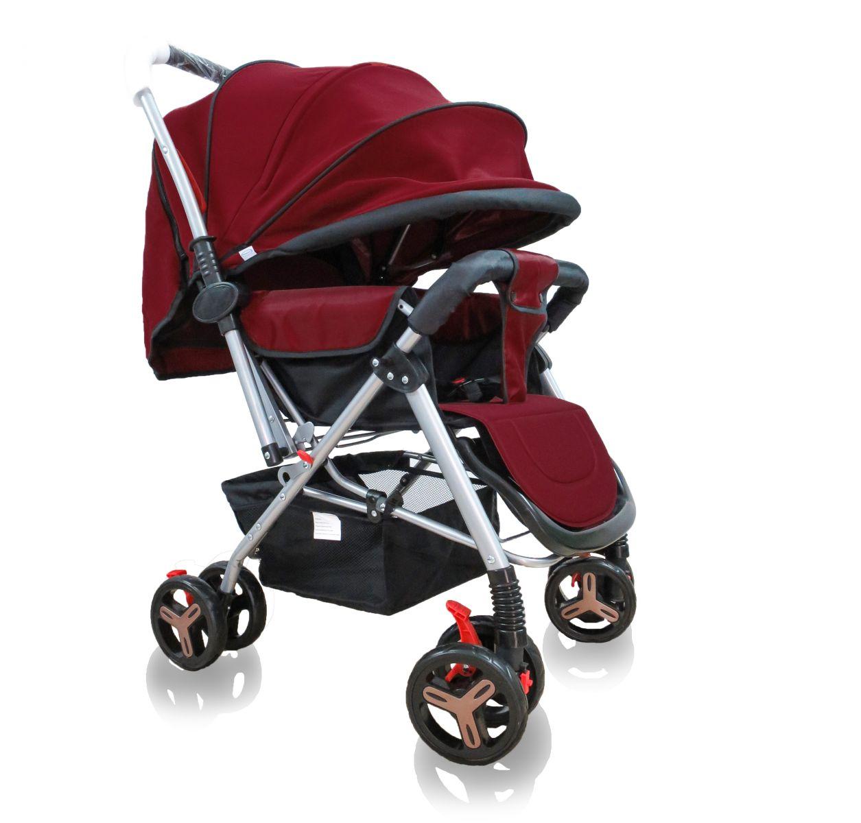 Xe đẩy 2 chiều Glück Baby C601 Đỏ đô