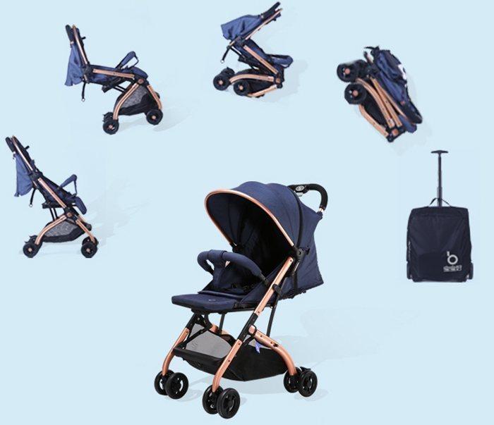 Xe đẩy cho bé gấp gọn có thiết kế sành điệu