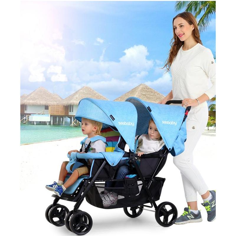 Xe đẩy đôi giúp mẹ chăm bé khỏe hơn