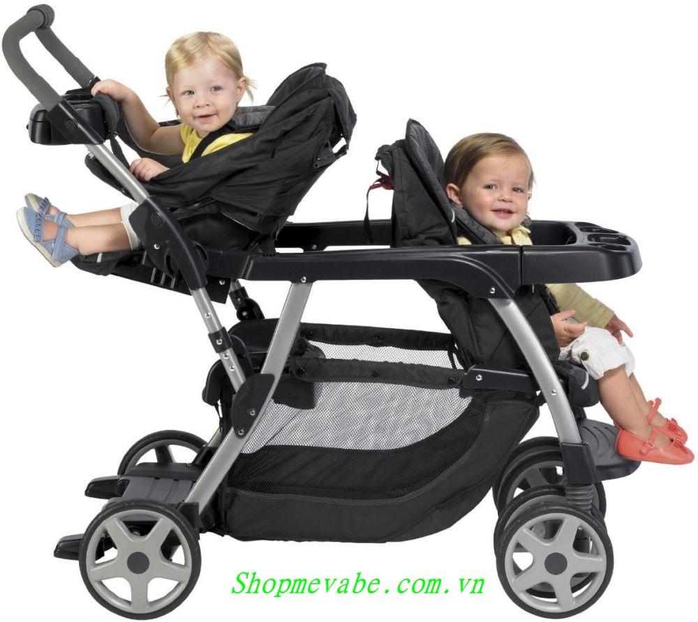 Xe đẩy đôi cho bé Graco Ready2Grow Click Connect