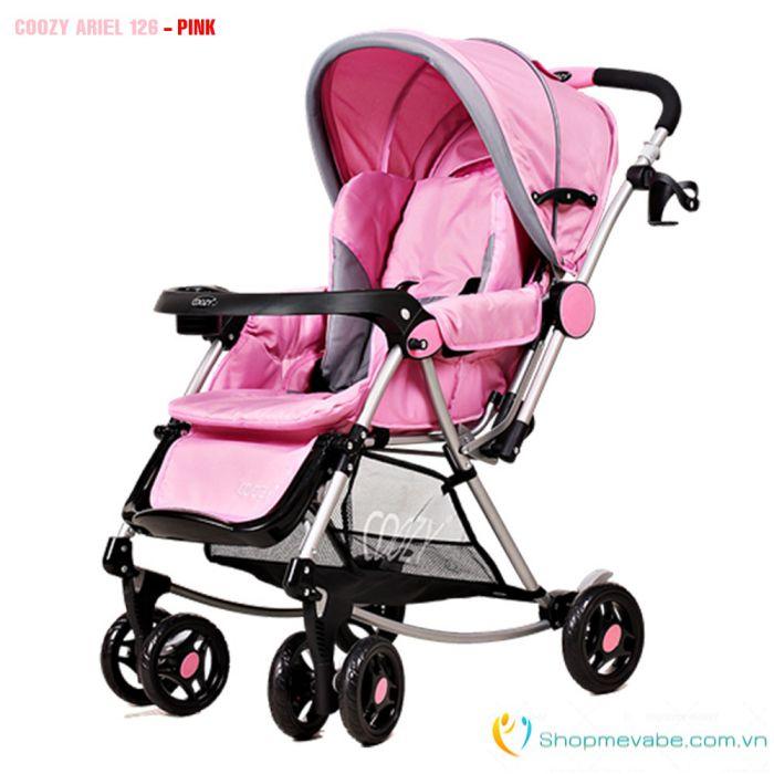Xe đẩy em bé 2 chiều COOZY Ariel 126 - Màu hồng