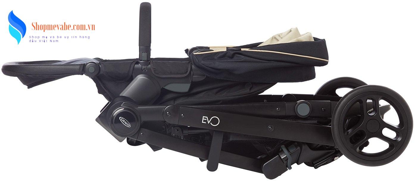 Xe đẩy trẻ em Travel System Graco Evo Trio Navy